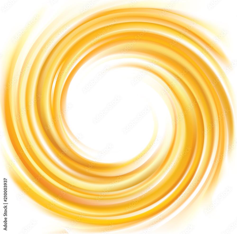 Fototapeta Vector swirling backdrop vivid yellow color