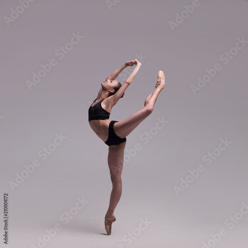 Leinwand Poster beautiful ballet dancer isolated