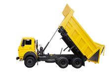 Yellow Dump Truck For Construc...