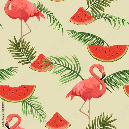 wzor-z-flamingow-i-arbuzy