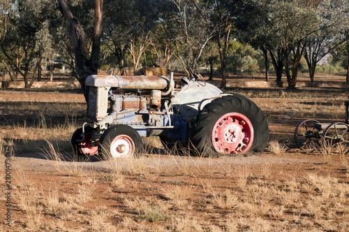 Fototapety, obrazy: Antiquated farm equipment in community park, Quorn, South Australia