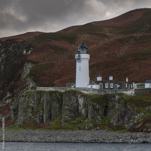 Fotografia Island of Davaar Light House off Campbeltown Loch on the Mull of Kintyre, Scotla