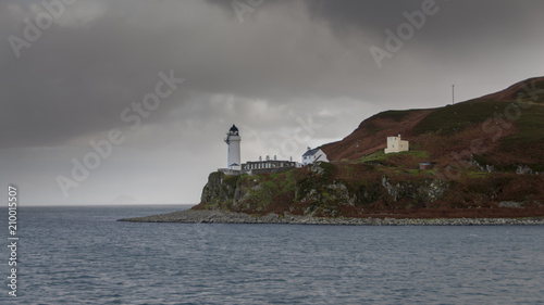 Leinwand Poster Island of Davaar Light House off Campbeltown Loch on the Mull of Kintyre, Scotla