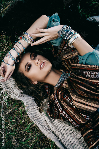 Poster Gypsy ornaments in boho style