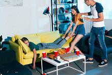 Girl Pulling Drunk Female Frie...