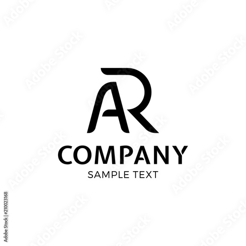 AR Vector Letter Logo Design Canvas Print