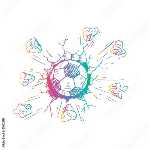 Printed kitchen splashbacks Sketch of football