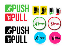 Set Of Pull Or Push Door Signs...