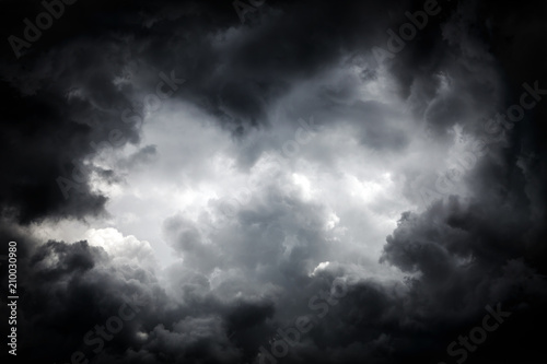 Obraz na plátně Storm Clouds Background