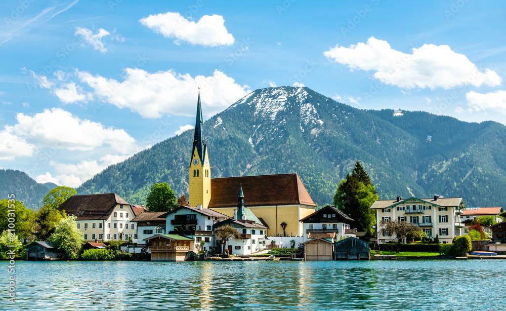 Fototapeta tegernsee lake - bavaria - germany