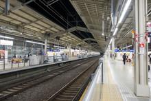 Kyoto, Japan-April 10,2017, Platform Scene Of Kyoto Station, Kyoto, Japan.