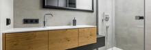 Contemporary Bathroom With Cou...