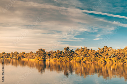 Printed kitchen splashbacks River Murray river at sunset