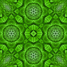 Kaleidoscopic Mosaic Green Til...