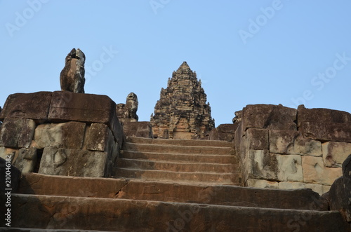 Deurstickers Bedehuis angkor ancient temple cambodia