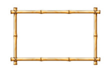 Bamboo Frame Template For Tropical Signboard With Ropes