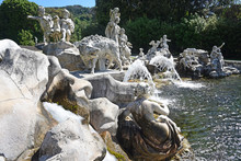 Royal Palace Garden In Caserta...