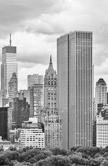 Fototapeta Nowy York Black and white picture of New York City old and modern architecture, USA.