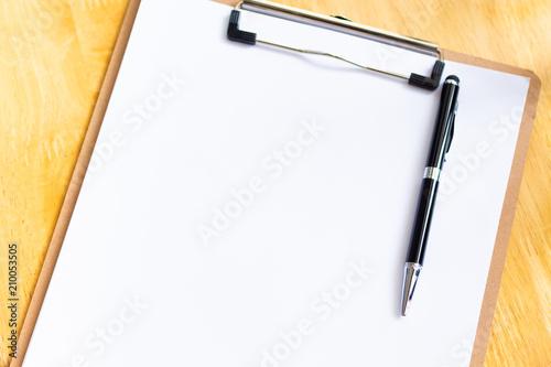 Fotografía  White paper for note, work process or job progress