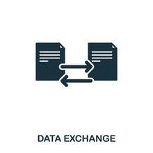 Data Exchange Icon. Line Style...