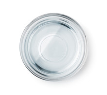 Top View Of Glass Bowl With Clear Water