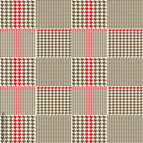 Photo  Creative vector illustration of fabric houndstooth seamless vector pattern background