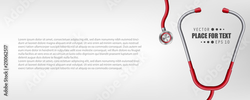 Fotografie, Obraz  Creative vector illustration of medical health care stethoscope isolated on transparent background