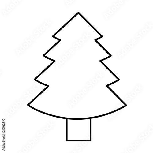 ausmalbild tannenbaum stockvektorgrafik  adobe stock