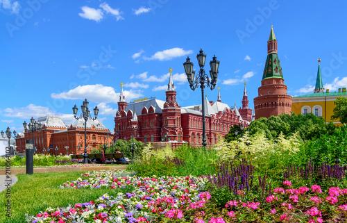 Plakat Plac Czerwony i Państwowe Muzeum Historyczne Rosji, Moskwa, Rosja