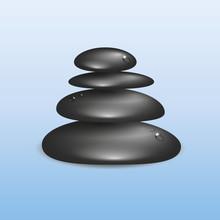 Schwarze Gestapelte Zen Steine