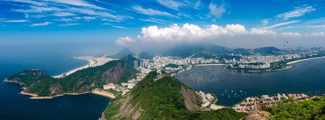 Panel Szklany Panorama Rio de Janeiro seen from high vantage point