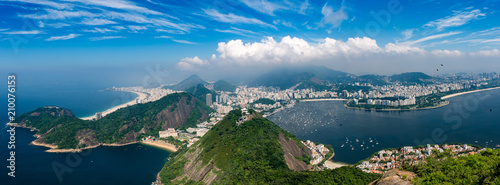 Poster Amérique du Sud Panorama Rio de Janeiro seen from high vantage point