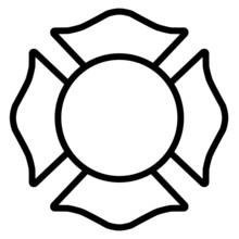 Firefighter White Emblem St Fl...