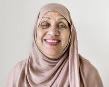 Portrait Of A Senior Muslim Wo...