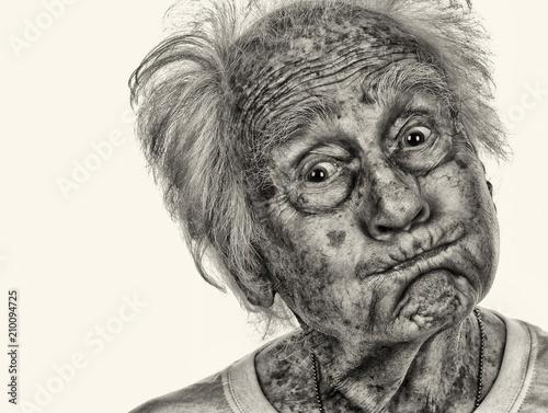 Very Funny Senior man Canvas Print