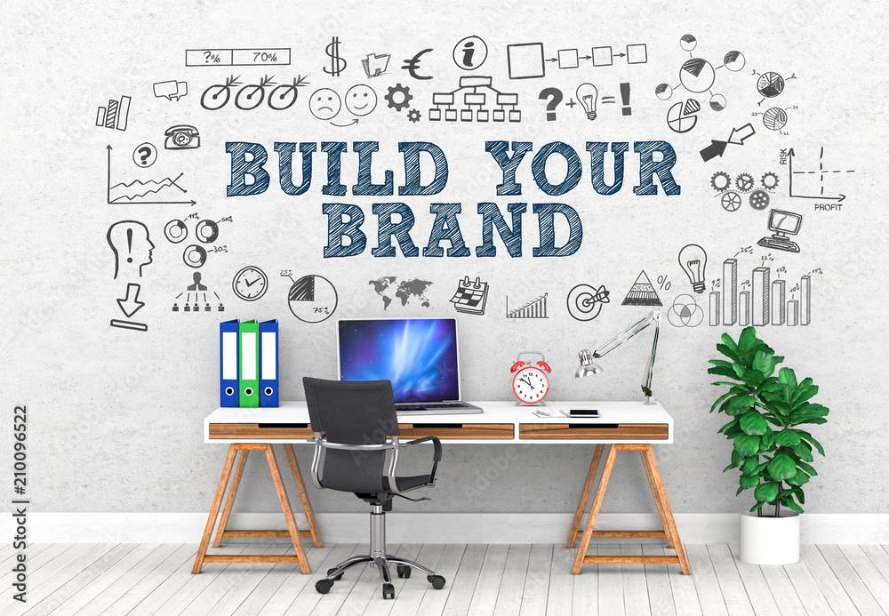 Fototapeta Build your brand