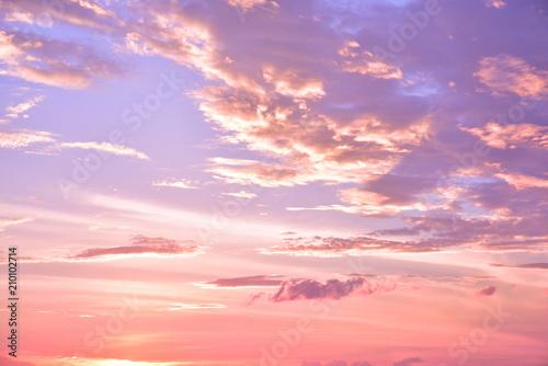 Foto op Canvas Purper 幻想的な空の壁紙イメージ