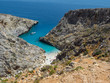 Seitan Limania beach holiday with blue water in Crete, Greece. June, 2018