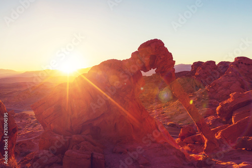 Foto op Aluminium Bordeaux Valley of fire