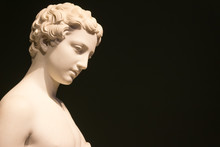 Marble Statue Of A Woman With ...