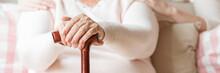 Close-up Of An Elderly Woman's...