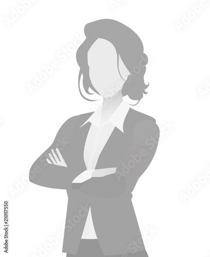 Default placeholder businesswoman half-length por Billede på lærred