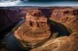 Horseshoe Bend in Arizona dunkel