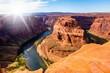 Horseshoe Bend in Arizona im Gegenlicht