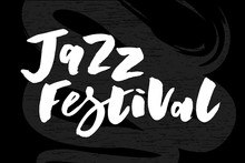 Jazz Festival Text Lettering C...