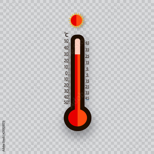 Meteorology thermometers isolated  Cold and heat temperature