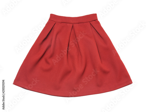 Elegant female skirt on white background Canvas Print
