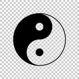 yin yan symbol. On transparent background.