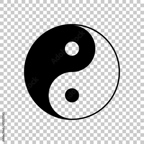 Fotografering  yin yan symbol. On transparent background.