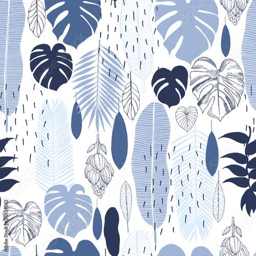 niebieskie-liscie-palmowe